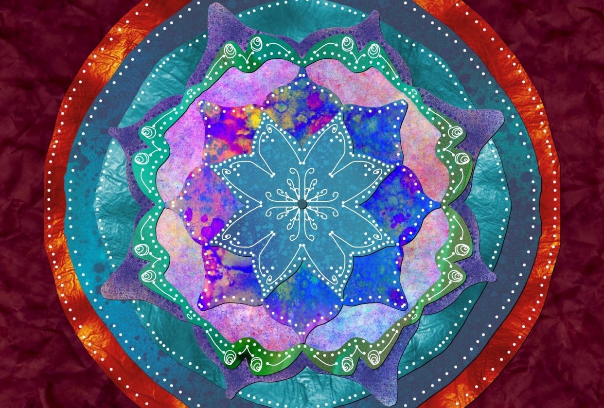 Mandala from plant inspiration - student project