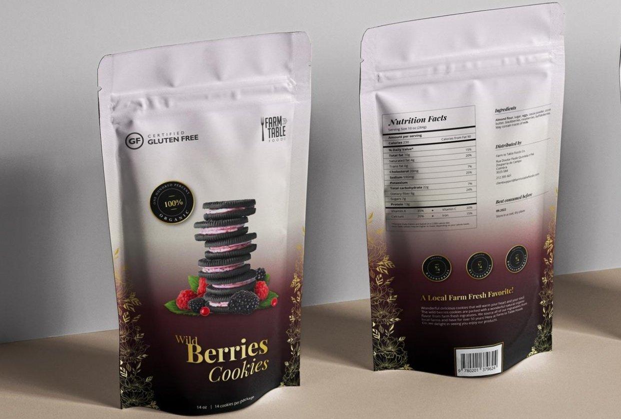 Wild Berries Cookies - student project