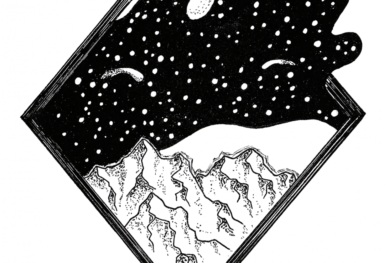 Drawing Galaxies with Fineliners - student project