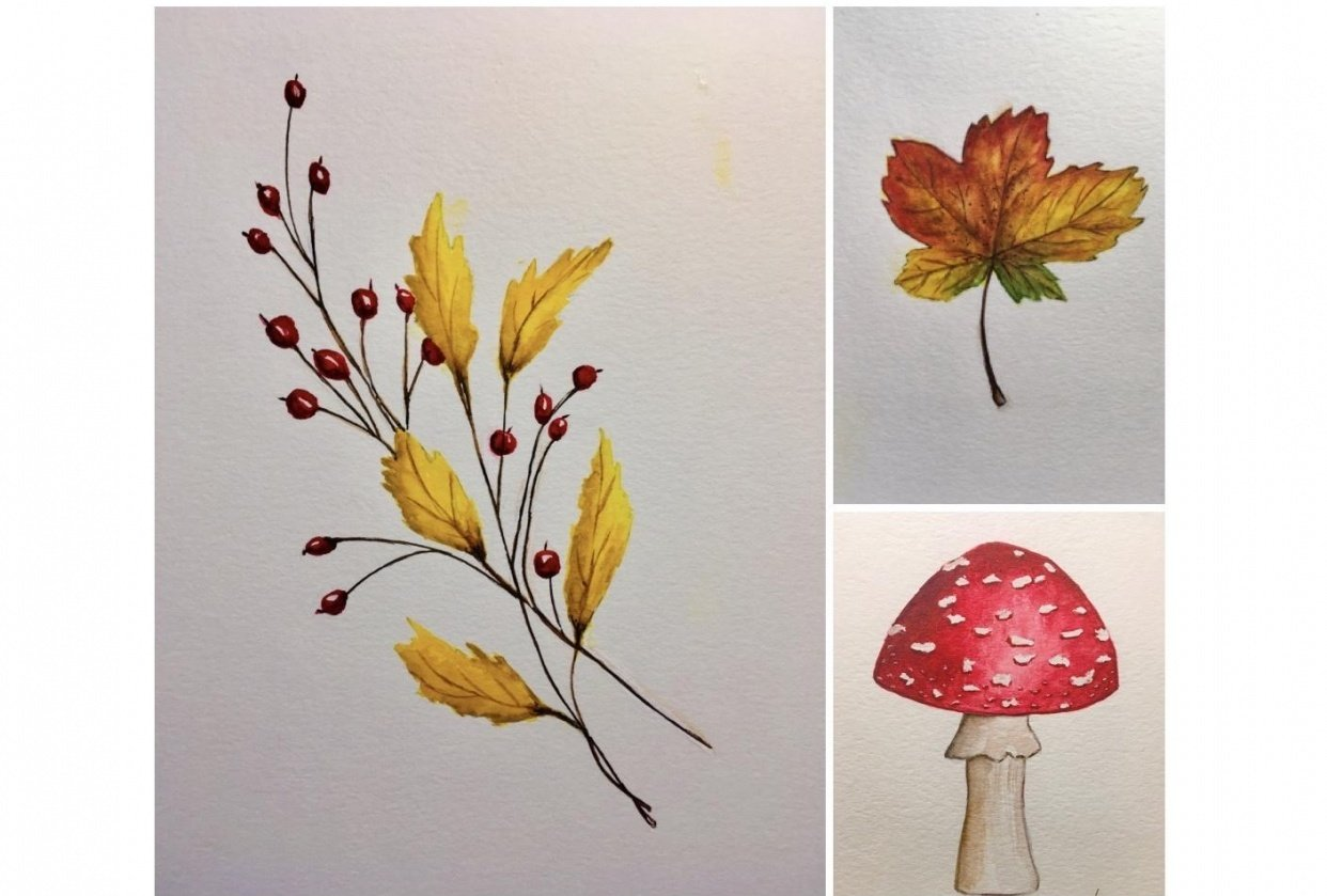 Autumn Leafs and Branches - student project
