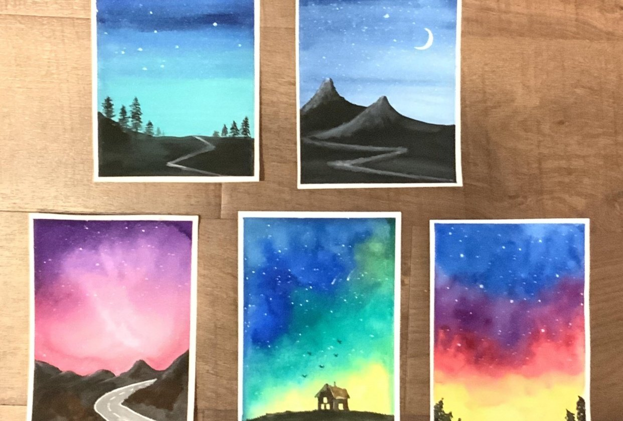 5 beautiful night skies - student project