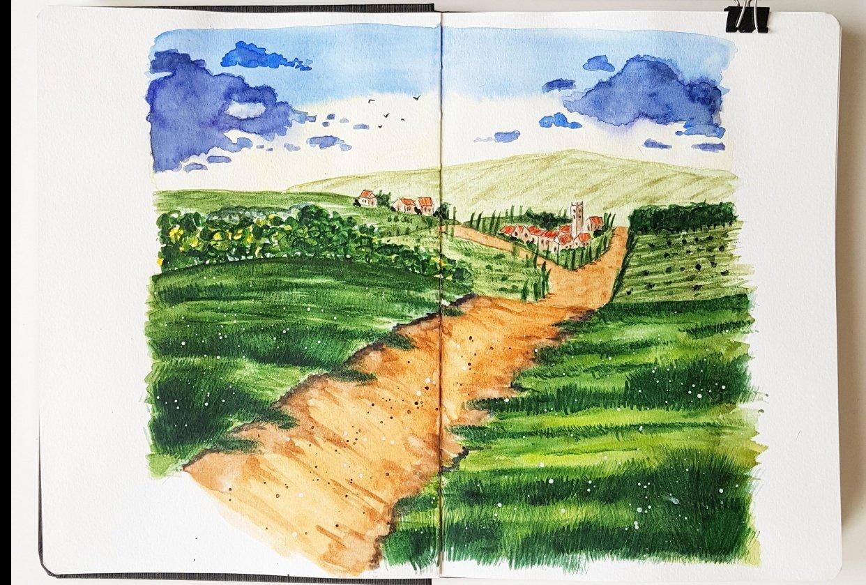 Tuscanian landscape - student project