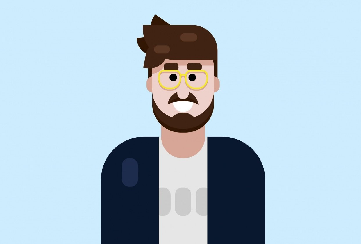 Beard and glasses - student project