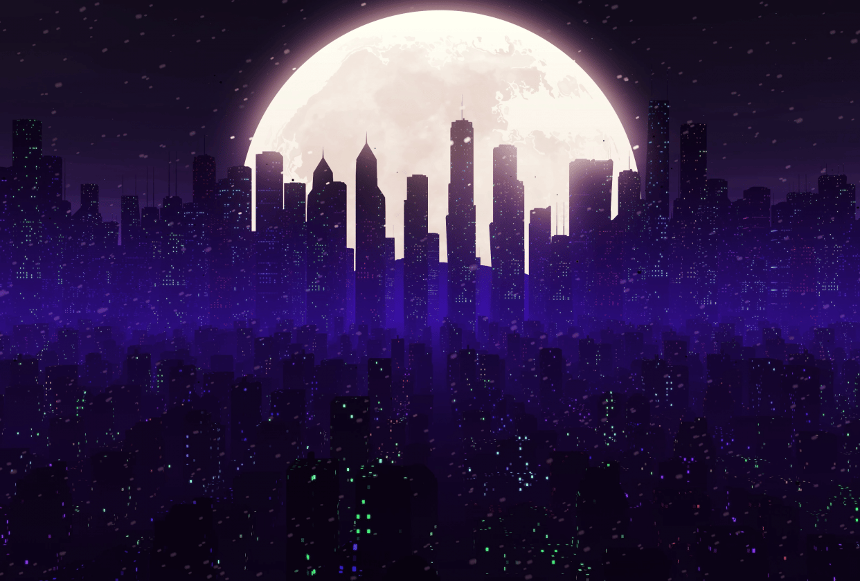 Winter night. - student project