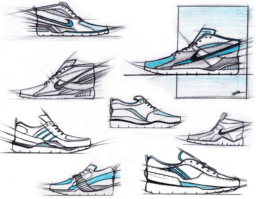Sneakerology pre-sketches - student project