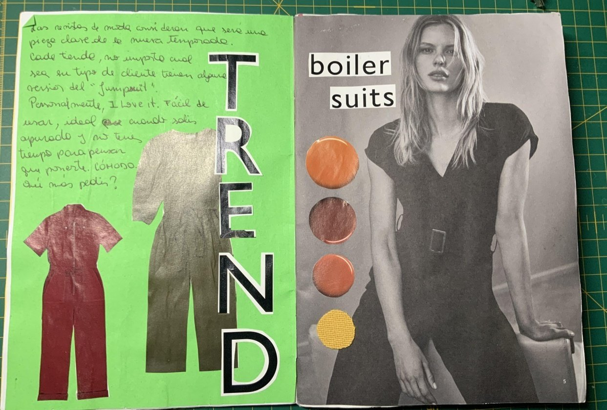 First up-cycled brochure - student project