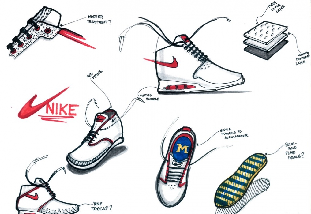 Sneakerology Sketches - student project