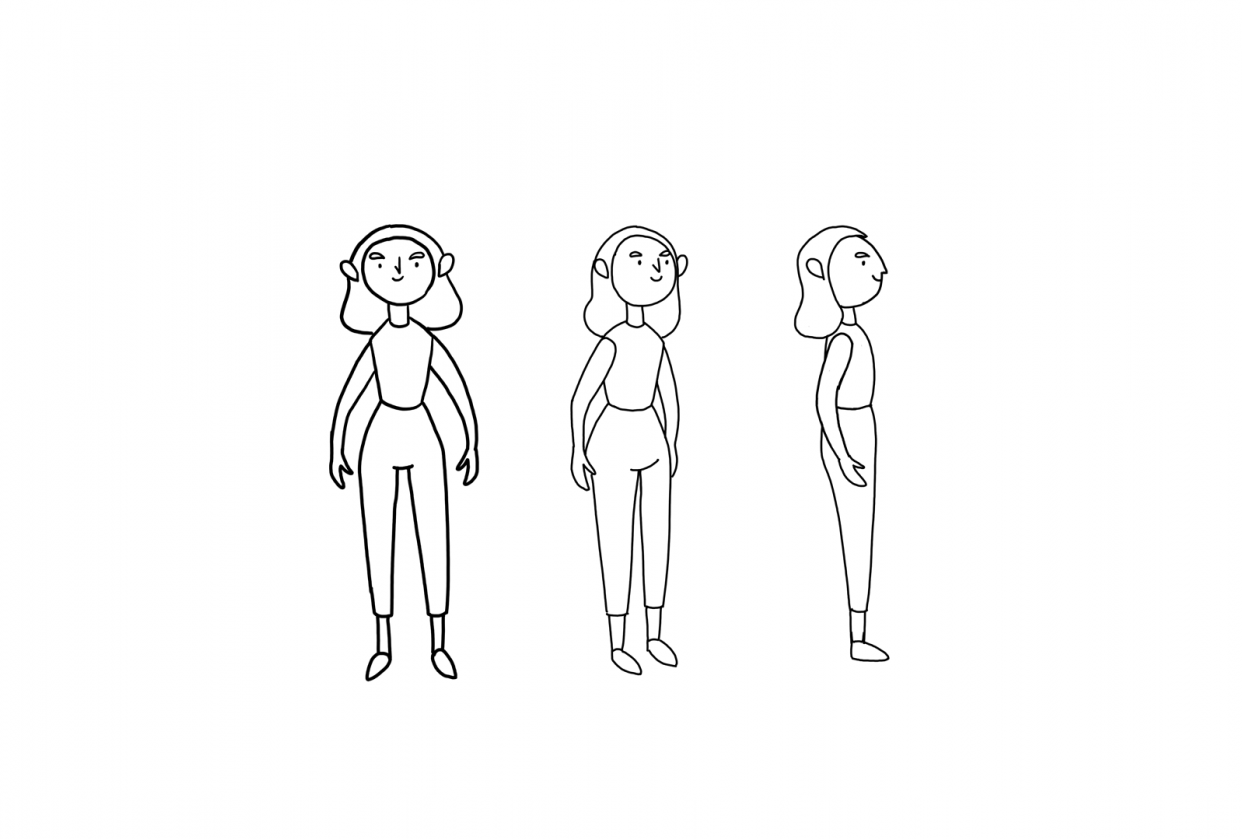 Walk cycle animation - student project
