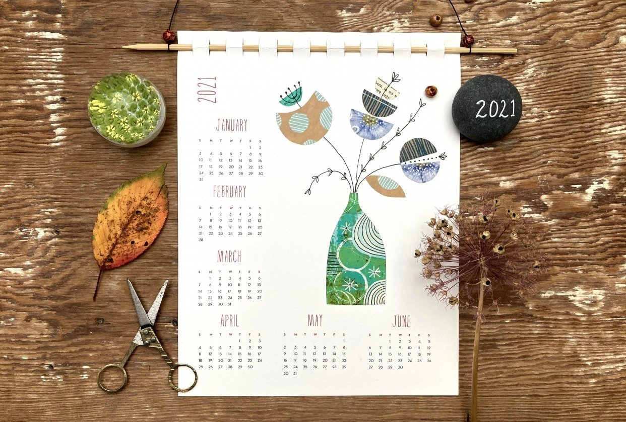 Collage Calendar 2021 - student project