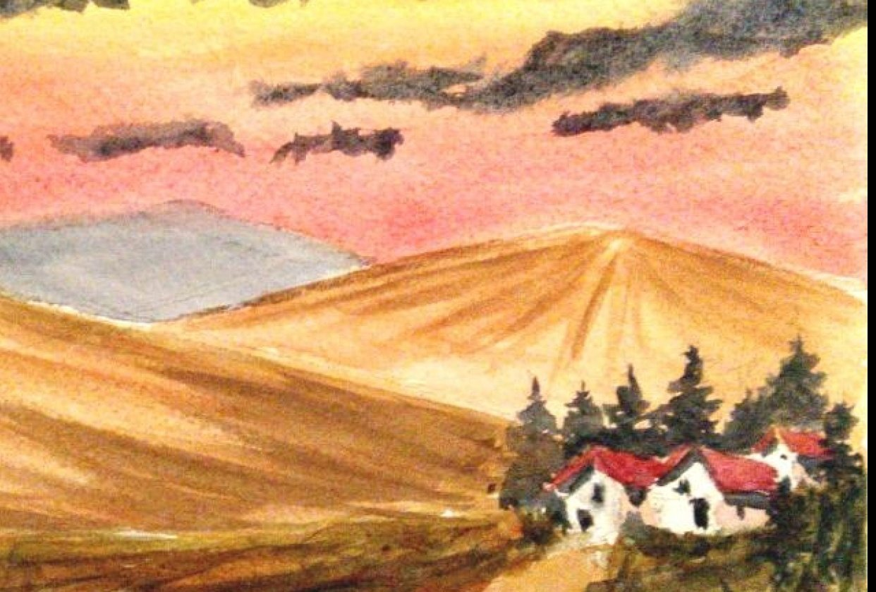 Easy Watercolor Landscape - student project