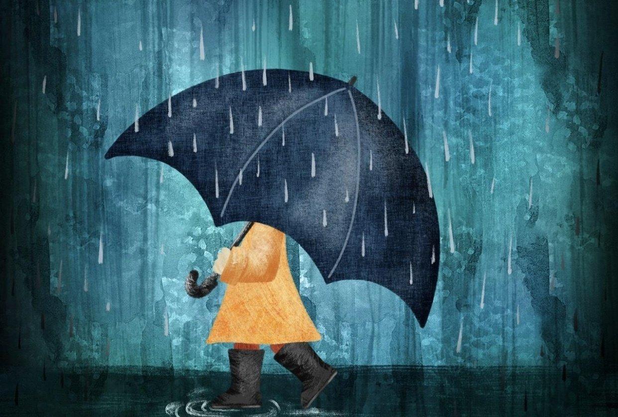 Rainy Walk - student project