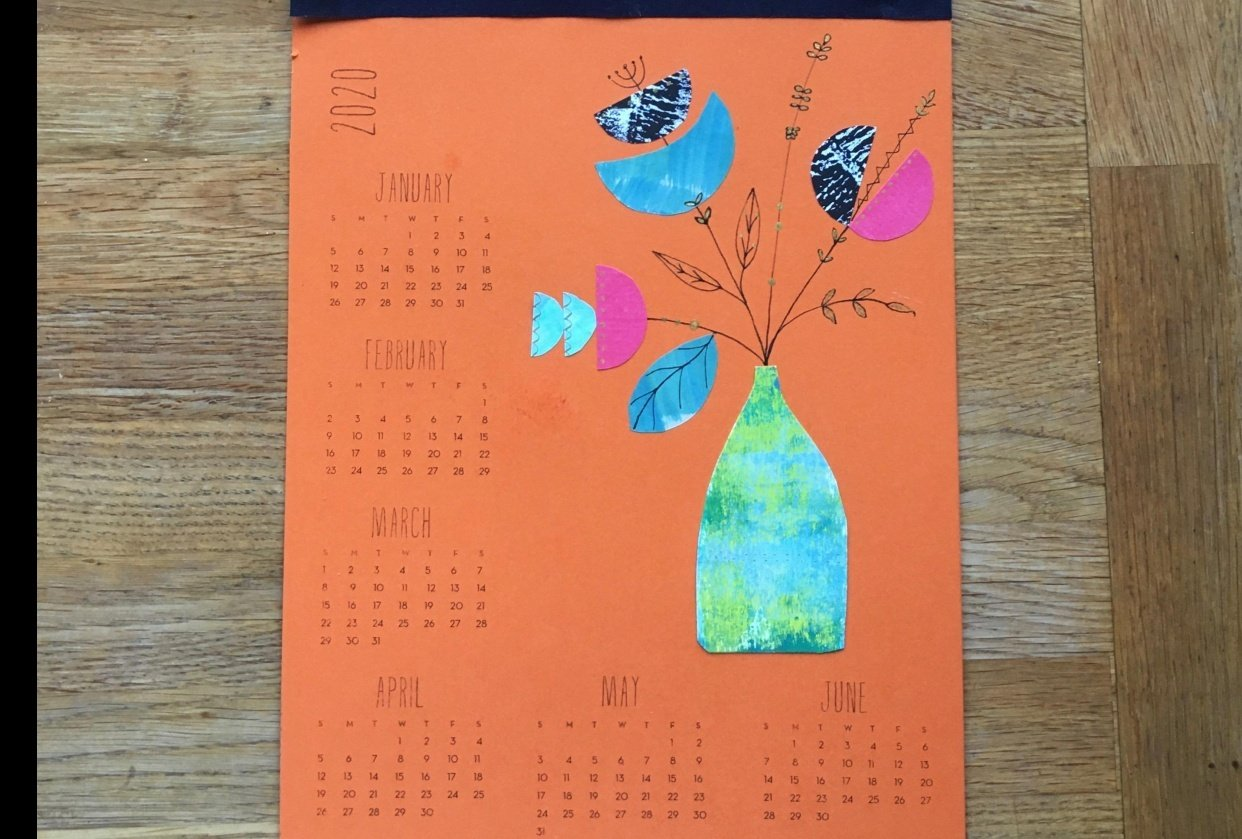 2020 calendar - another lovely, fun project from Lucie - student project