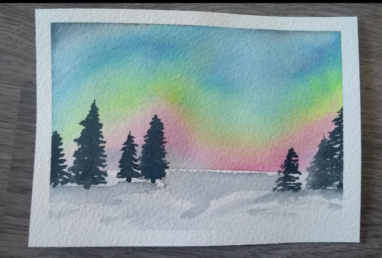 Northern lights light - student project