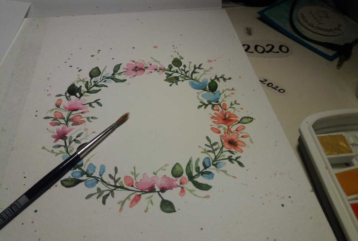 Floral Wreath - student project