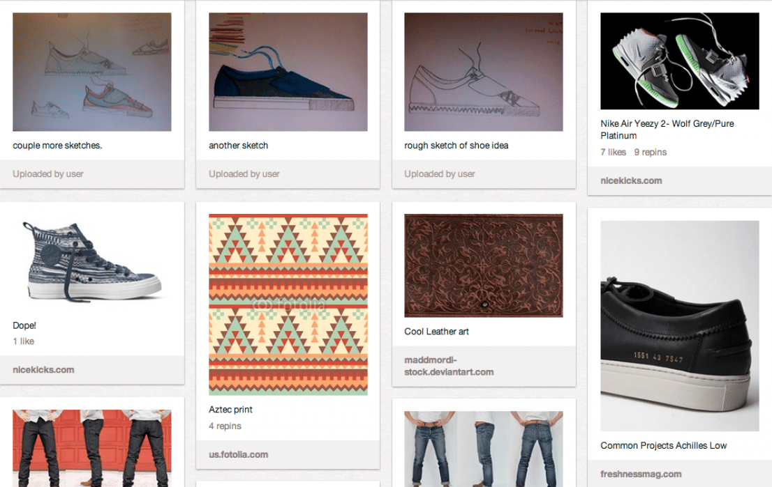 Sneakerology Story Board - student project