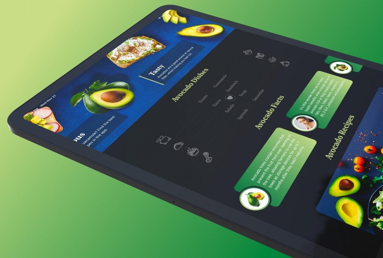 Avocado Recipes iOS 13 SwiftUI App Built in Xcode - student project