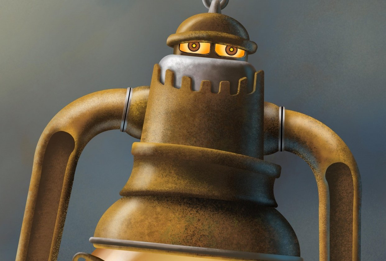 Steampunk Lantern Robot - student project