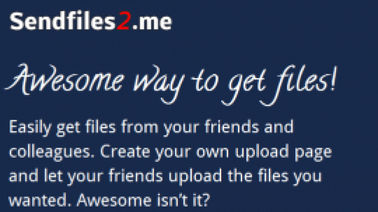 Sendfiles2.me - student project