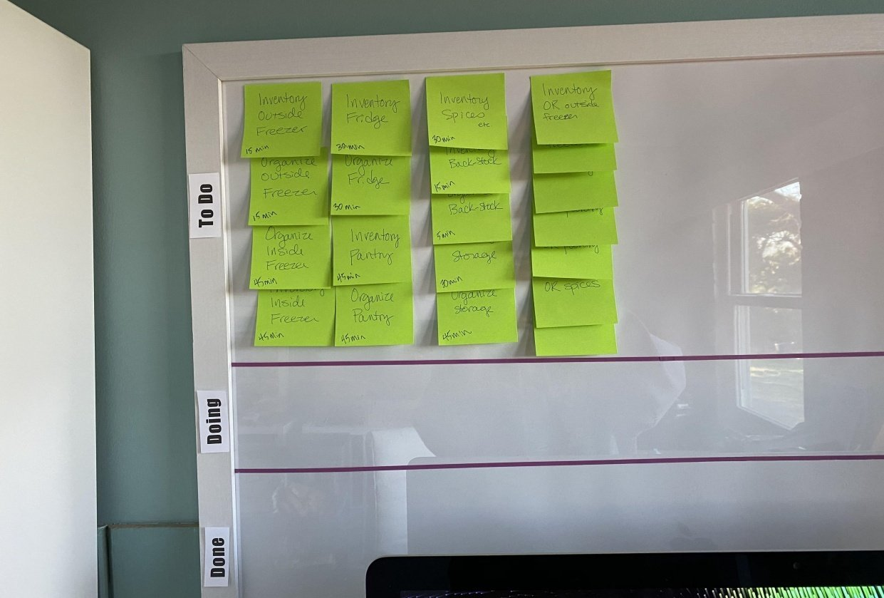 Finish Kanban board set up AND Set up first project - student project