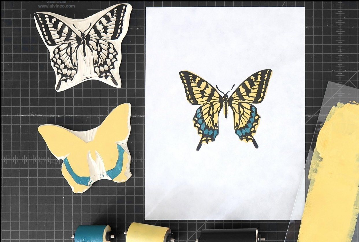 Swallowtail Butterfly - 3 colors - student project