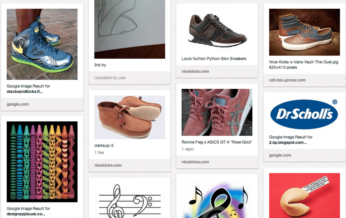 Shoe Inspiration + Sketches - student project