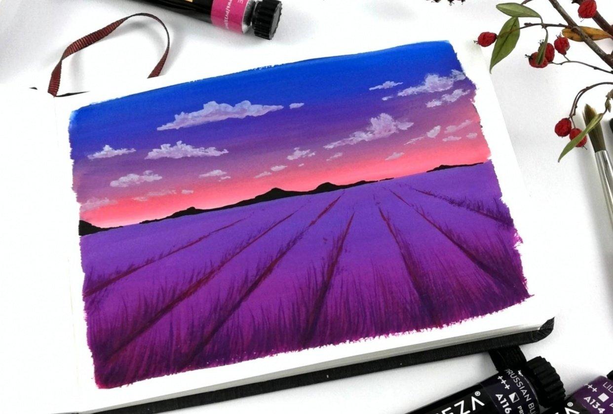 5 easy gouache landscapes! - student project