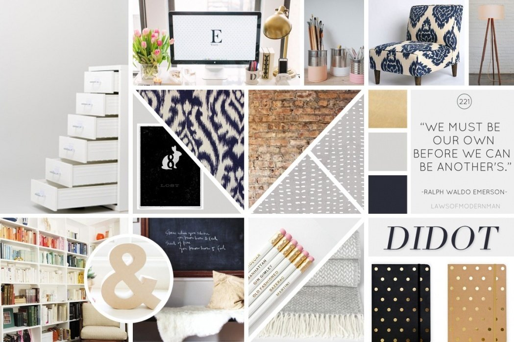 Home Office Mood Board - student project