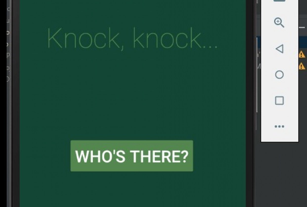 Knock, knock... - student project