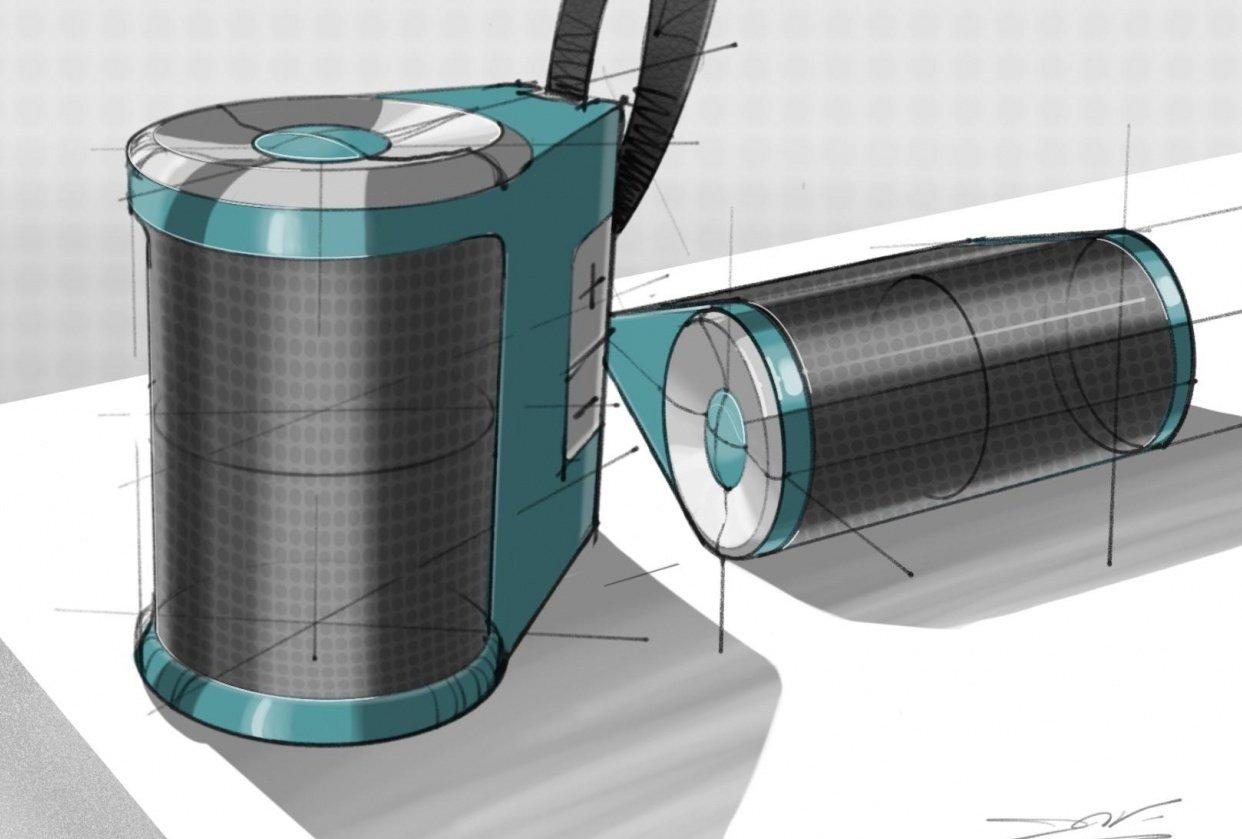Speaker - ID Sketch in ProCreate - student project