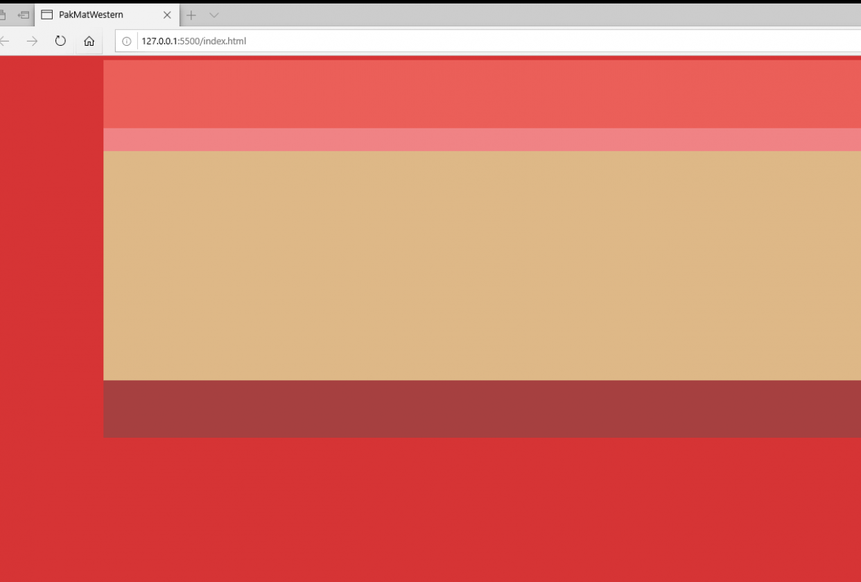 html5 CSS Background Color For Body - student project