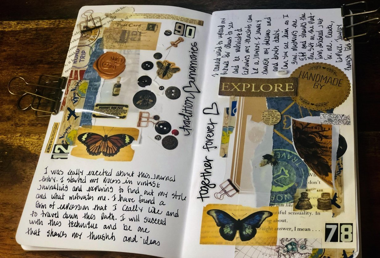 I am ready to explore journaling my way - student project