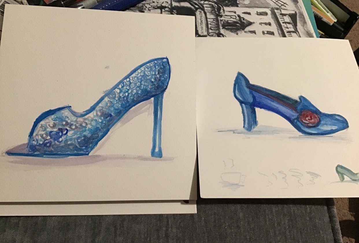 Two blue shoes - student project