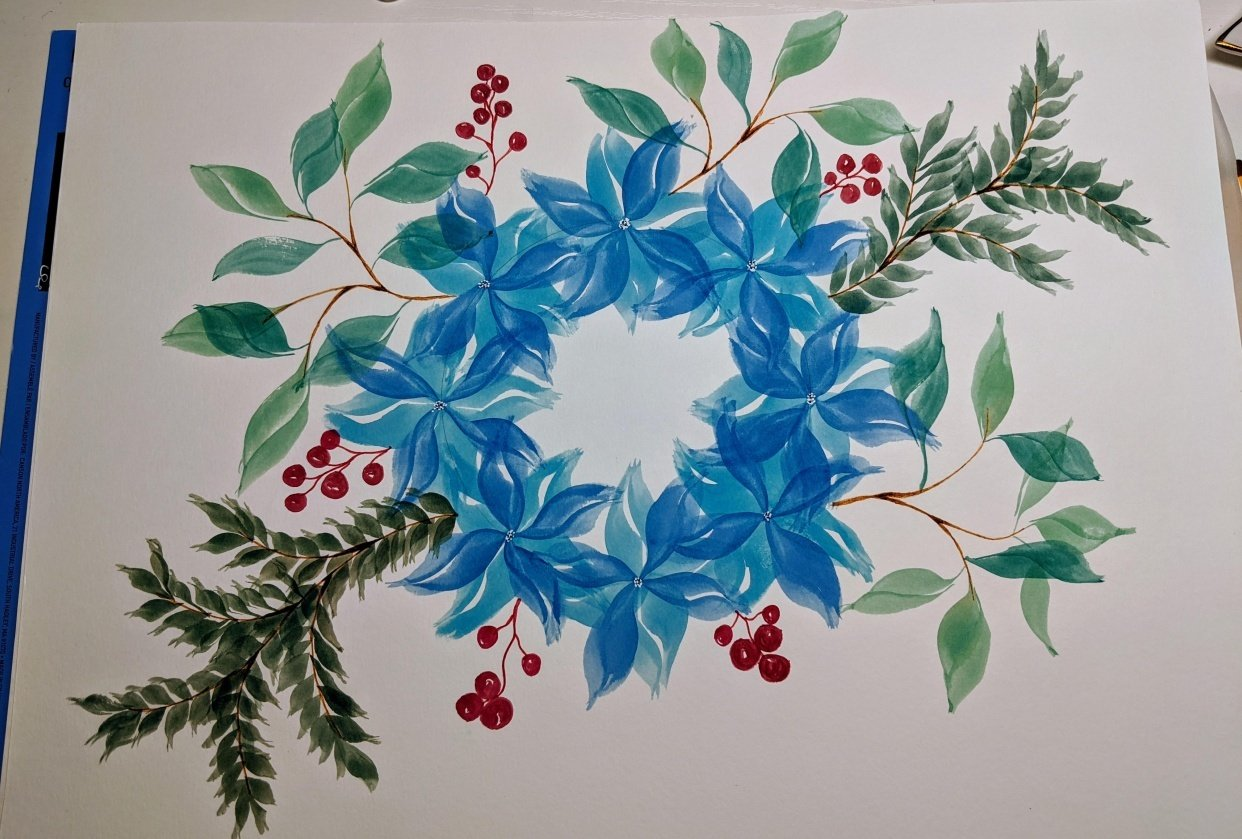 Blue Wreath - student project