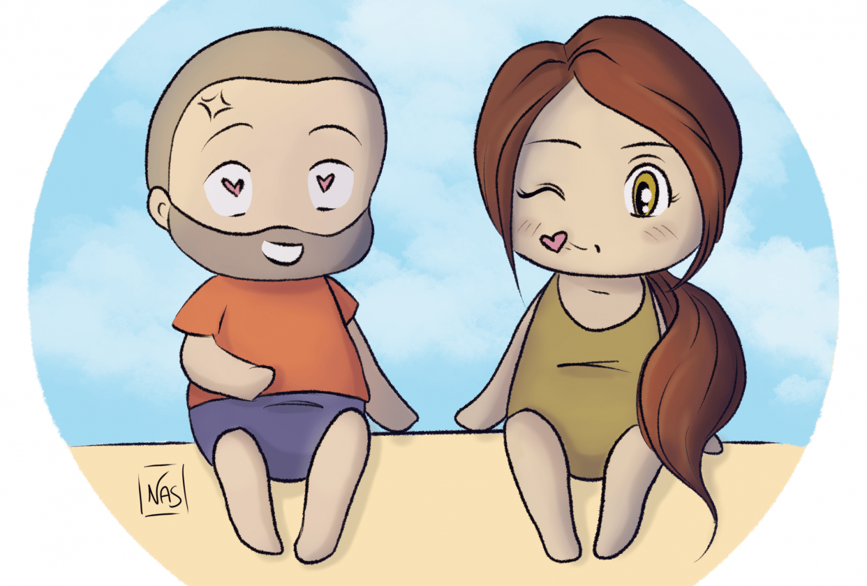 My husband and I as little Cuties! - student project
