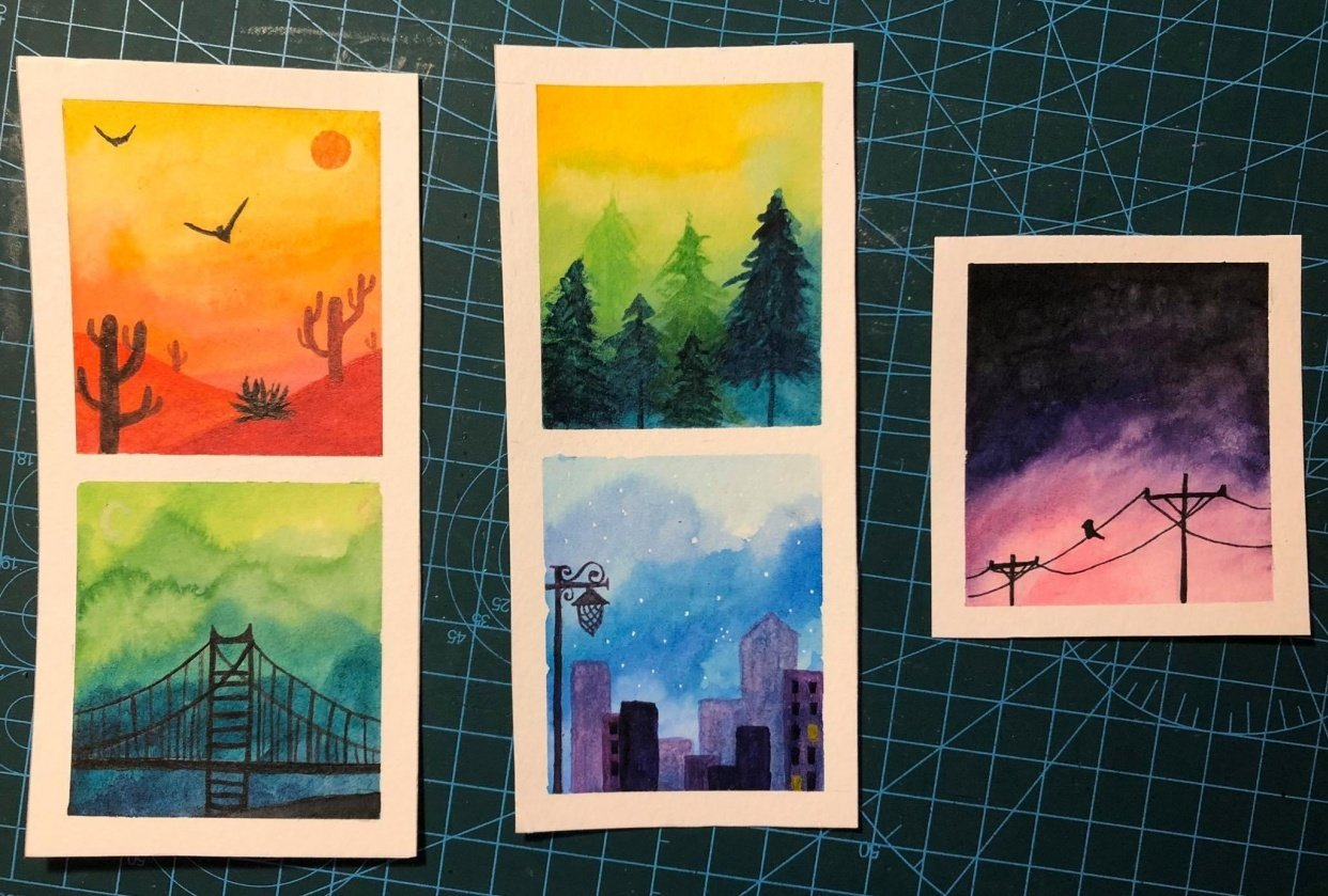 Mini Paintings - student project