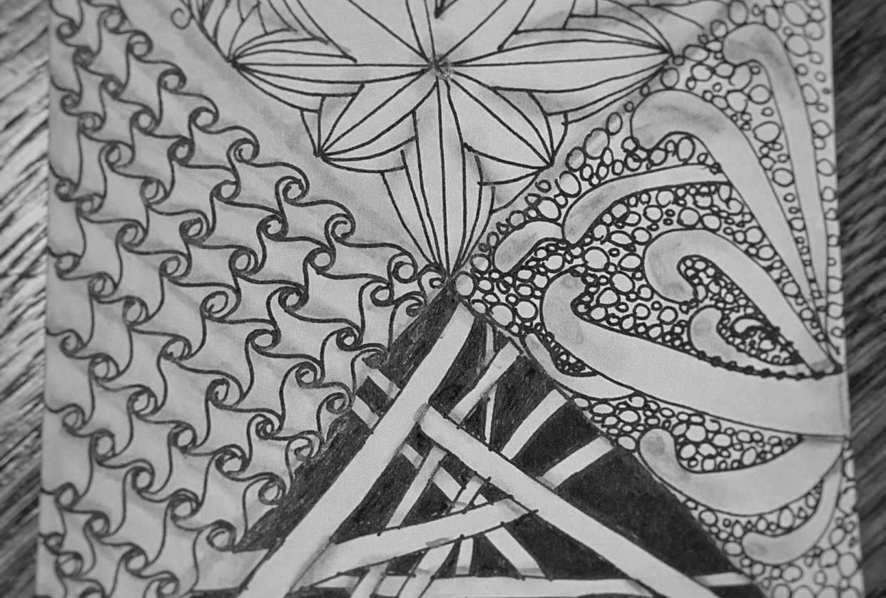 My first Zentangle Project - student project