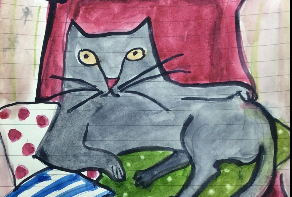 Drawing Arthur, my cat - student project
