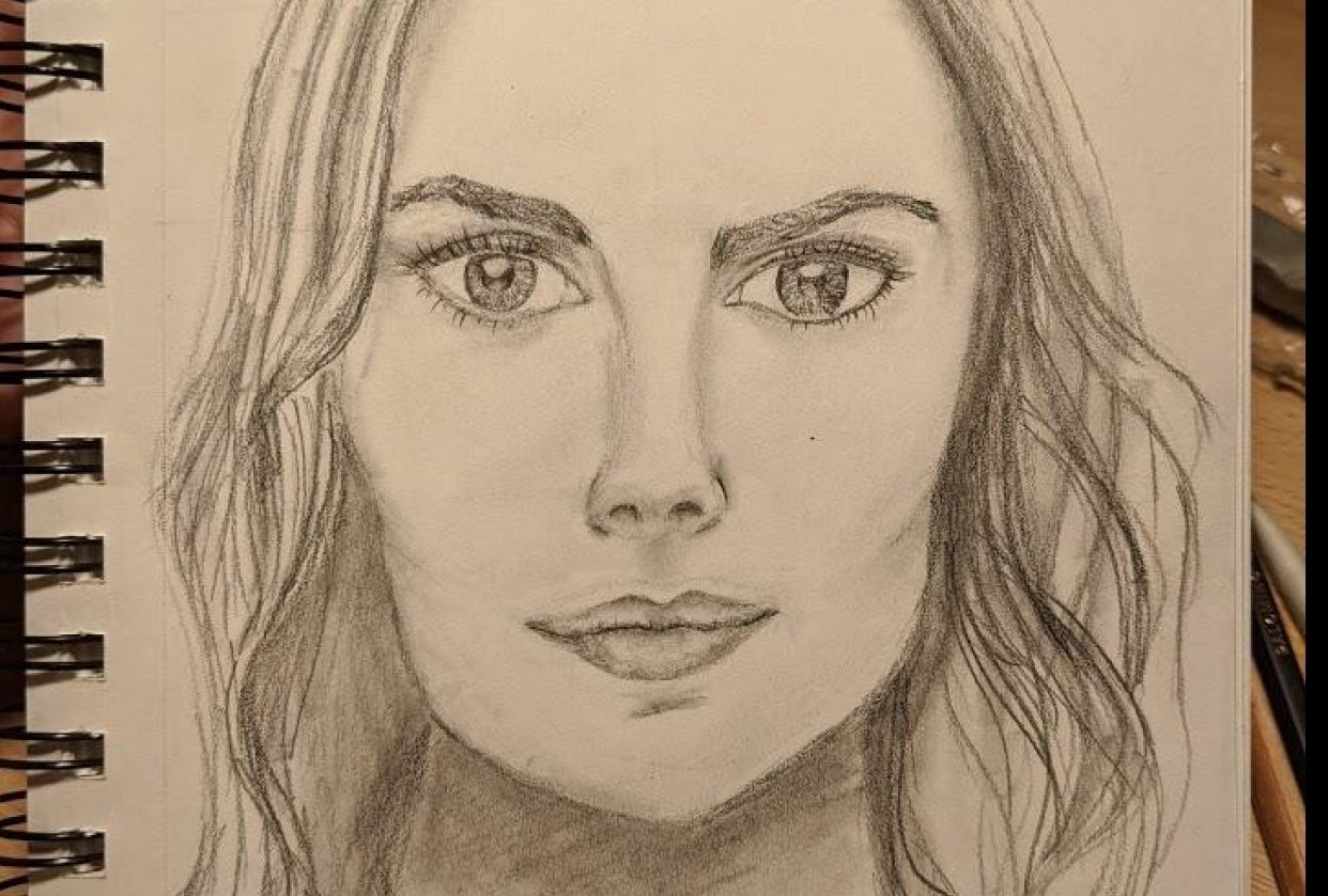 PORTRAIT DRAWING #2: How to transform the draft into a realistic portrait - student project