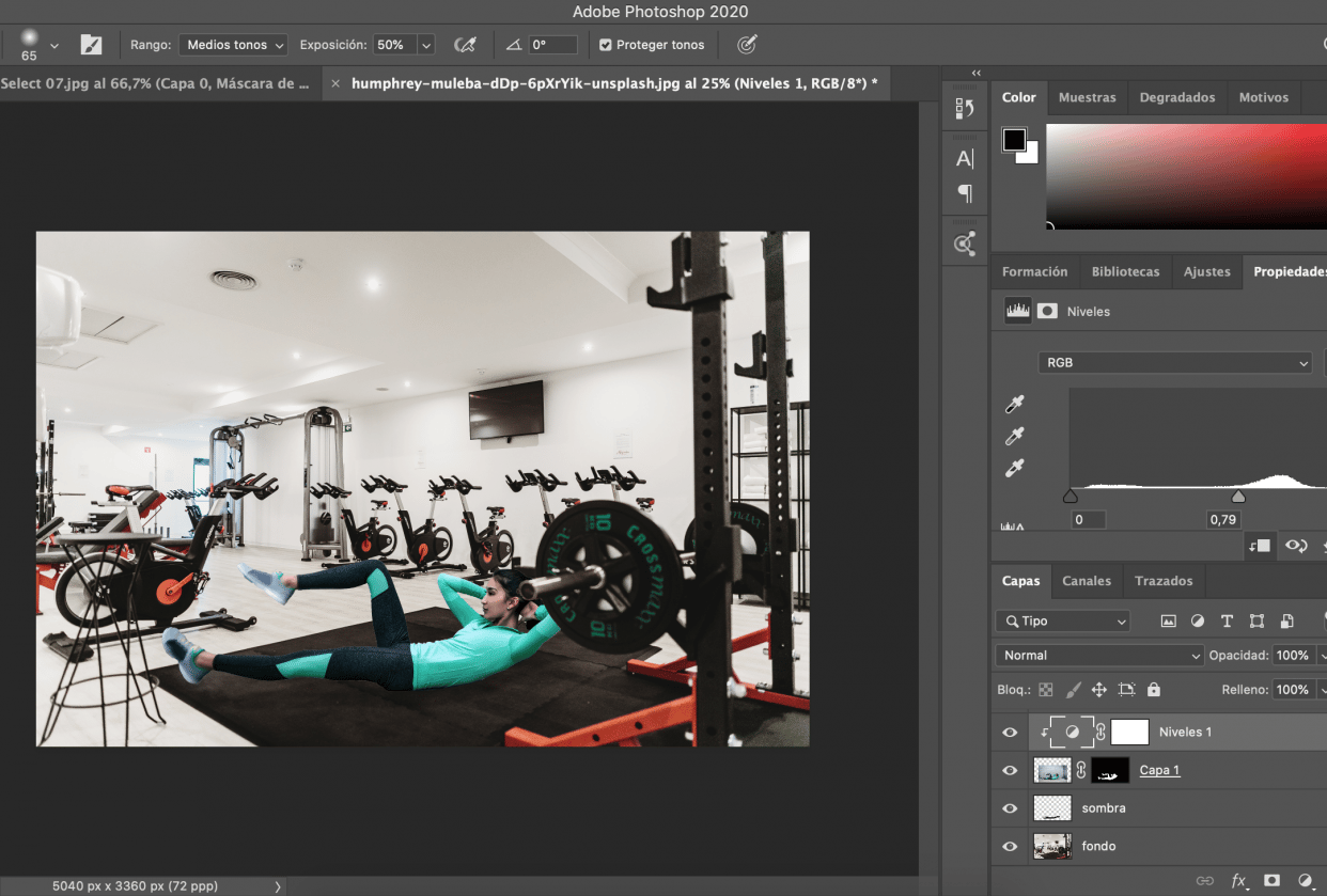 she's on the gym now - student project