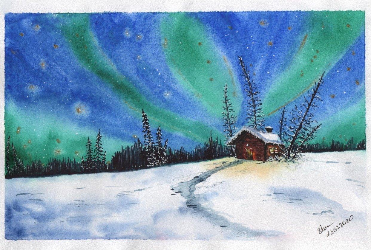 Magic winter night - student project