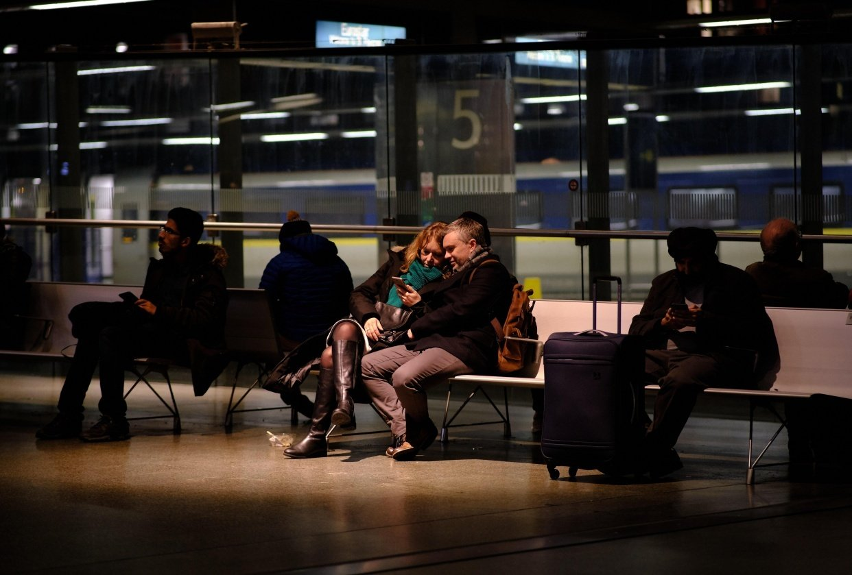 Couple at Train Station. - student project
