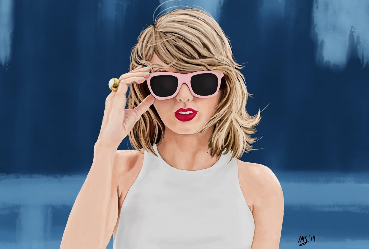 Taylor Swift Digital Painting - student project