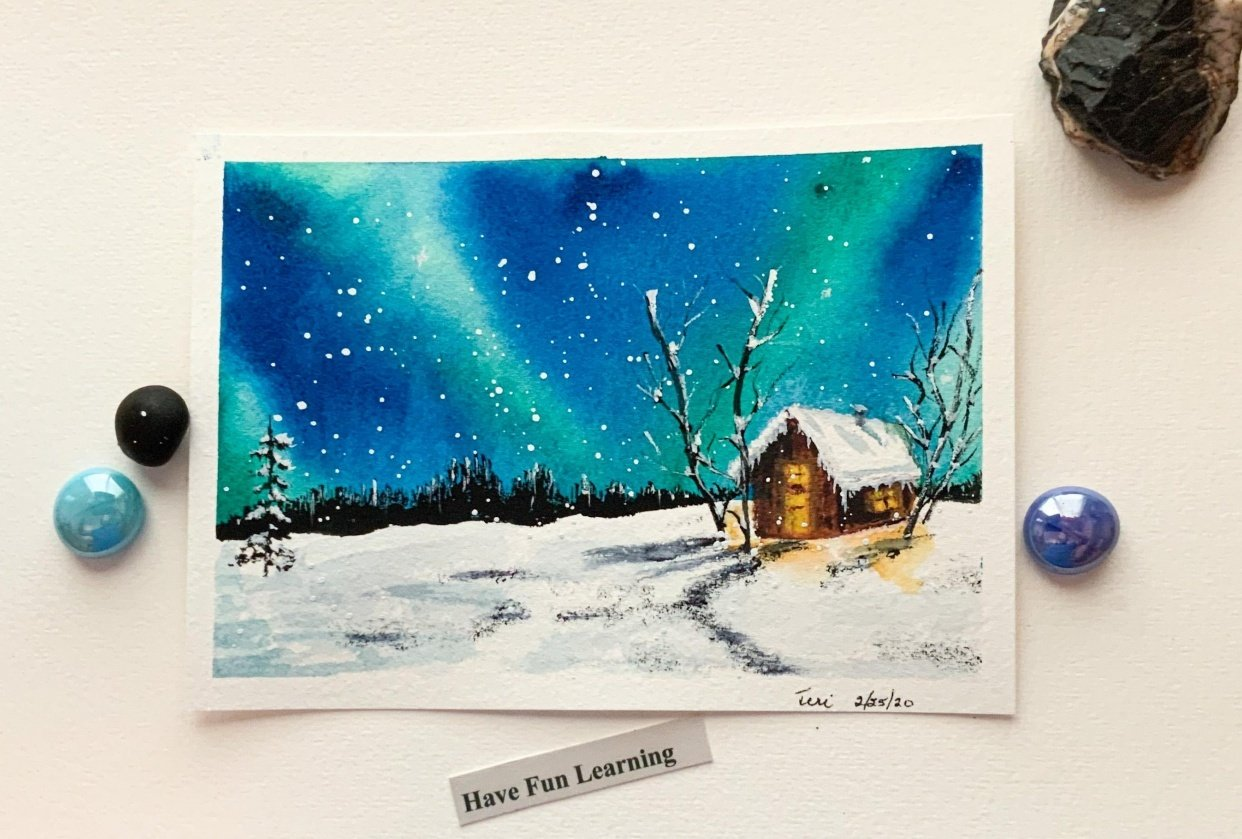 Snowy Winter Night - student project