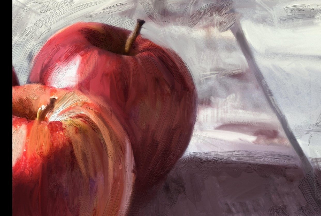 Apple Painting for 'Traditional Looks for Digital Painting' - student project