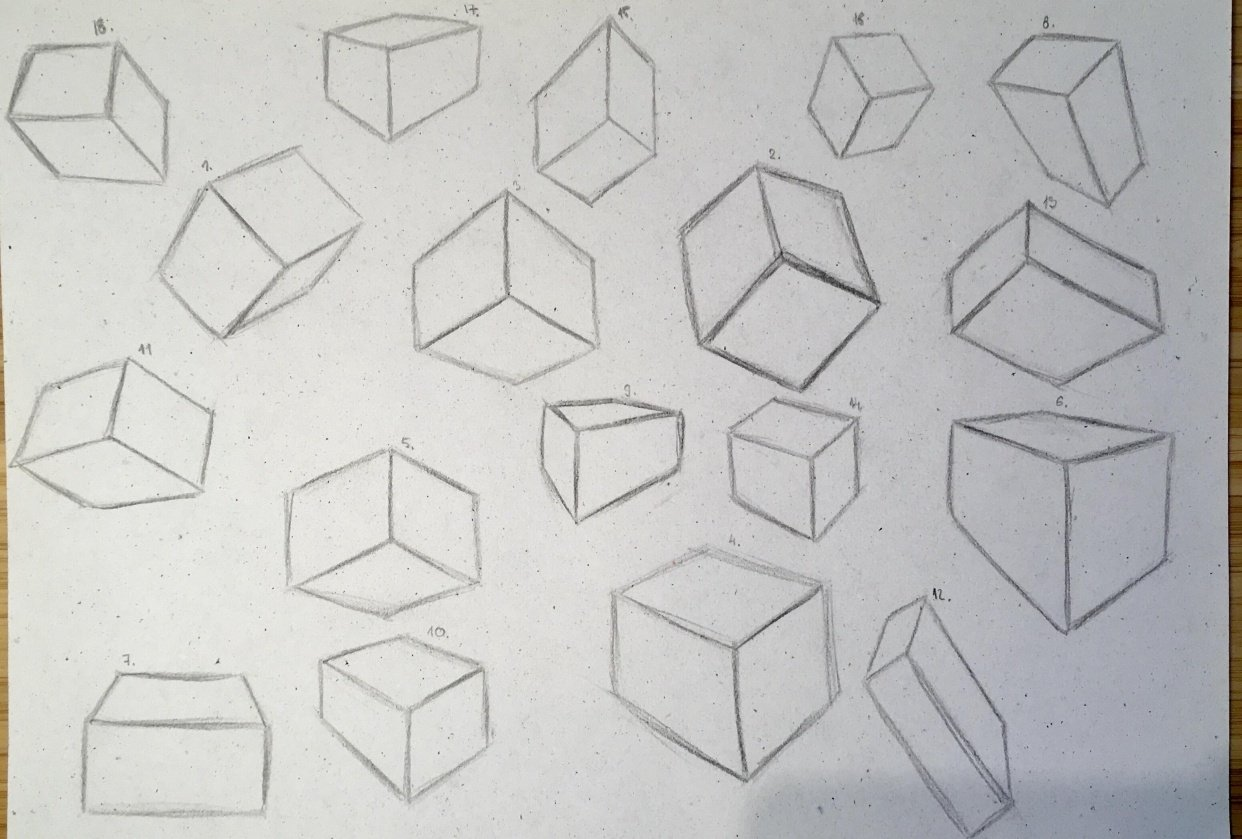 Boxes - different angles - student project