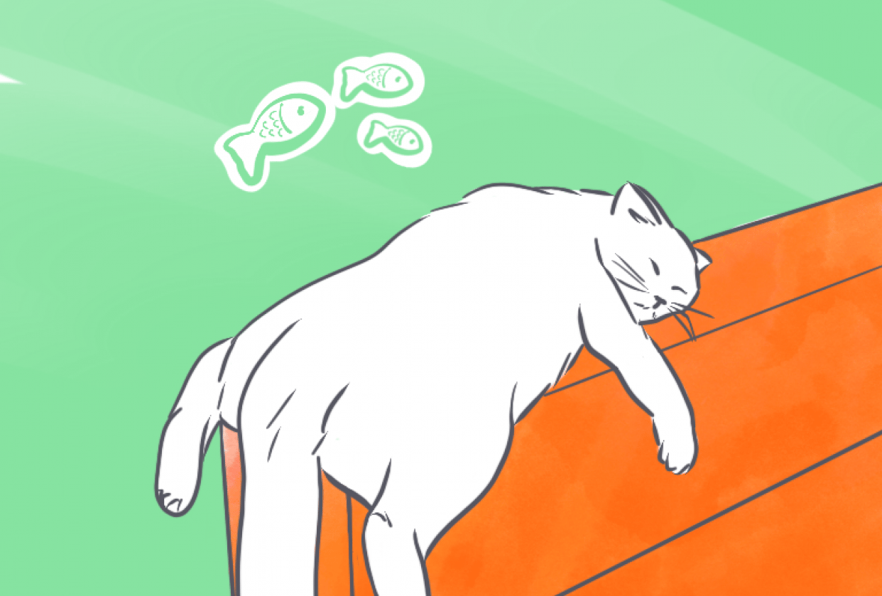 Cat Dreams by Devijulias (Luckiart) - student project