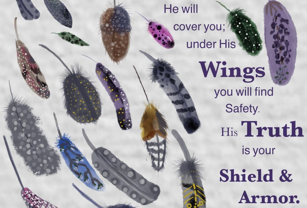 Feathers - Psalm 91:4 - student project
