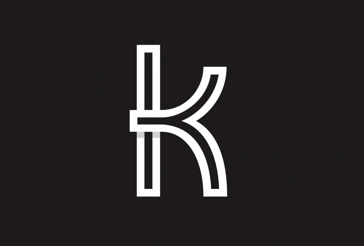 Letter K Logo - student project