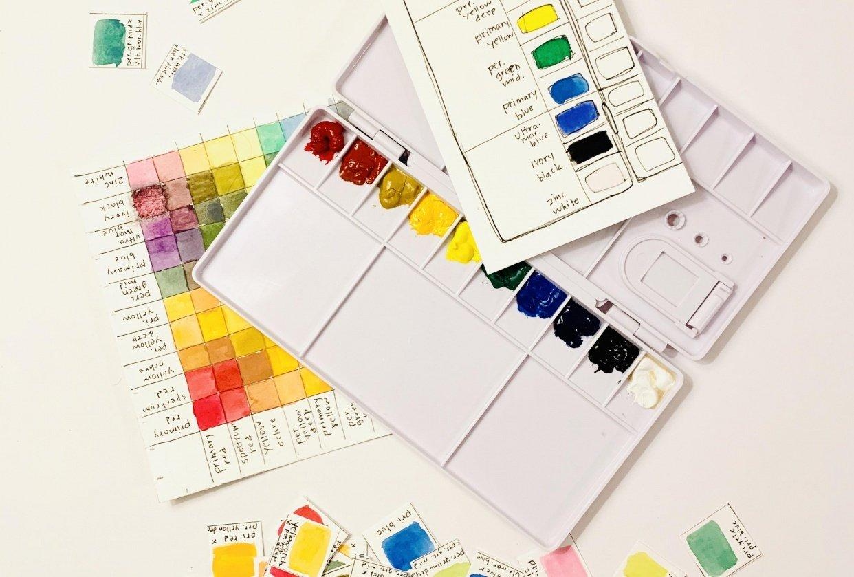 Gouache Palette - student project