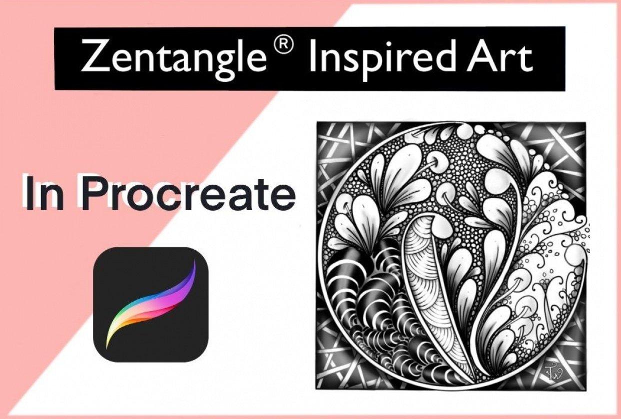 ZentangleInspired Art in Procreate - student project